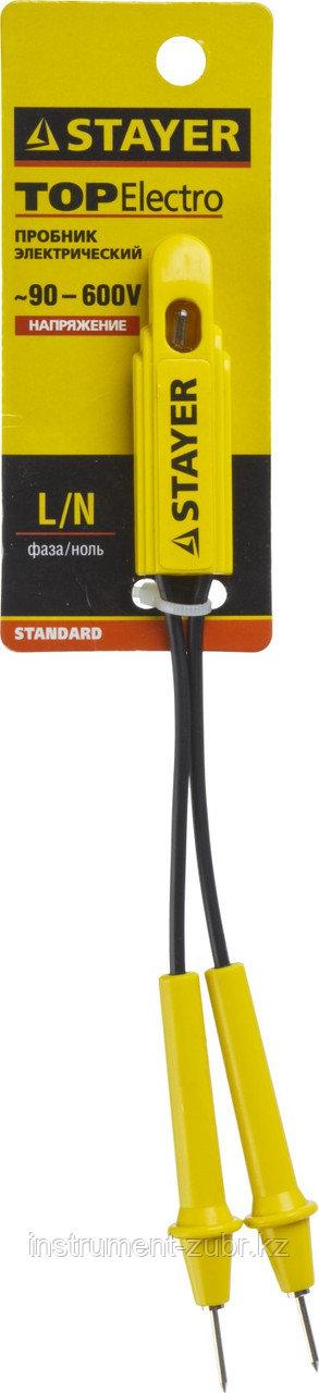 """Пробник STAYER """"STANDARD"""", 90-600 В, 170мм"""