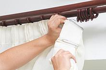 Снятие и вывешивание штор, портьер, тюль