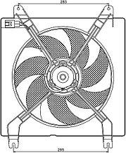 Диффузор радиатора в сборе CHEVROLET LACETTI 1.6 04-