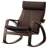 Кресло-качалка ПОЭНГ коричневый/Глосе темно-коричневый ИКЕА, IKEA