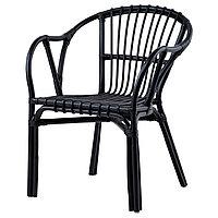 Кресло ХОЛЬМСЕЛЬ черный ИКЕА, IKEA, фото 1