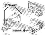 Подушка двигателя гидравлическая передняя пр-лв Febest SZM-017  (11610-65J01 / 11610-65J10 / 11610-66J00), фото 2
