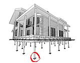 Анкеры, сваи винтовые металлические d133 мм для устройства фундаментов зданий, сооружений, домов, пирсов, фото 4