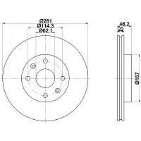 Тормозные диски Toyota MR 2 (89-00, задние, Trw)