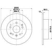 Тормозные диски Honda  Stream (RN) (01-..., задние, Trw)