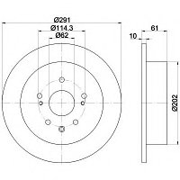 Тормозные диски Lexus IS250 (05-…, задние, Trw)