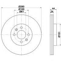 Тормозные диски Renault Megane (97-01), Laguna (95-01) (передние  , Optimal)