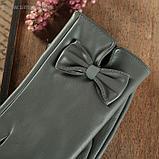 Перчатки женские, р-р 7.5, подклад искусственный мех, цвет серый, фото 2