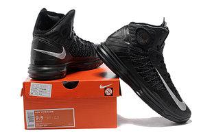 Nike Lunar Hyperdunk X  баскетбольные кроссовки черные, фото 3