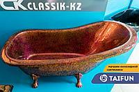 Ванна из искусственного мрамора 180*85см CKclassicKZ KING бардовый, фото 1