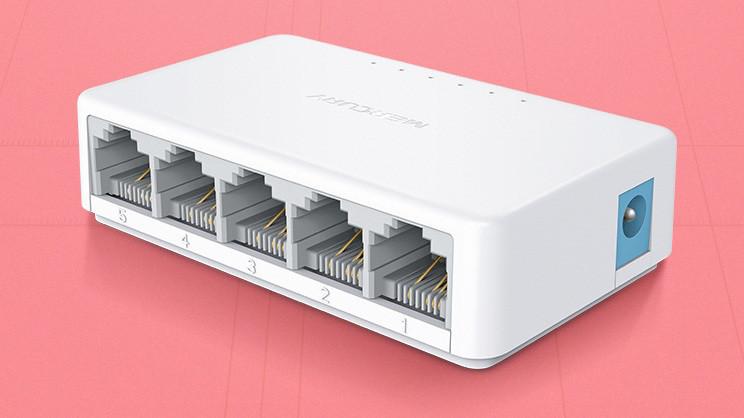 Коммутатор 5 портов Mercury Mini S105C 10/100Mb