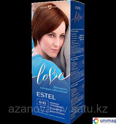 """Крем-краска для волос """"Estel Love"""" (тон: 6/43, коньяк)"""