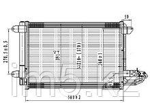 Радиатор кондиционера SEAT LEON 04-