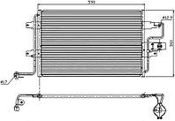 Радиатор кондиционера AUDI A3/S3 96-03