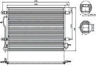Радиатор кондиционера AUDI A6 97-04