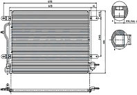 Радиатор кондиционера  AUDI A4/S4 01-07