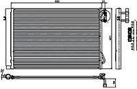 Радиатор кондиционера BMW X1 E84 09-