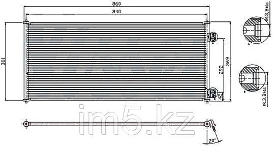 Радиатор кондиционера FORD TRANSIT 00-06