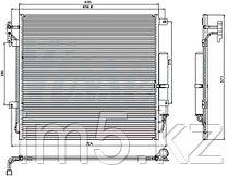 Радиатор кондиционера LAND ROVER DISCOVERY III 04-