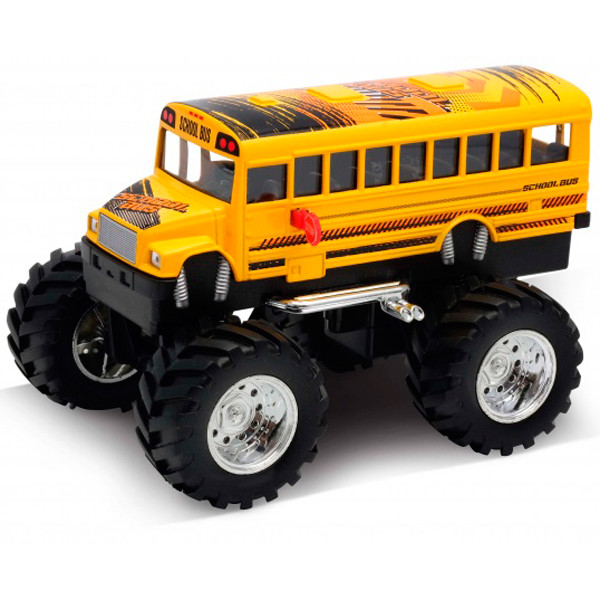 Welly 47006S Велли Модель машины 1:34-39 School Bus Big Wheel Monster