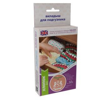Вкладыши для многоразовых подгузников Био-хлопок на кнопках, размер XS, для детей весом 2-6 кг