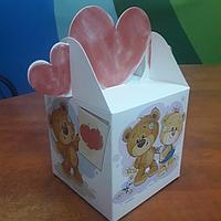 Коробка 10*10*10см медведь