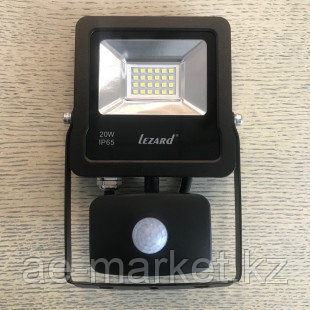 Светодиодный прожектор с датчиком движения Lezard 20W-6500K
