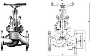 Клапан запорный 15кч22нж(15кч922нж с ЭП)