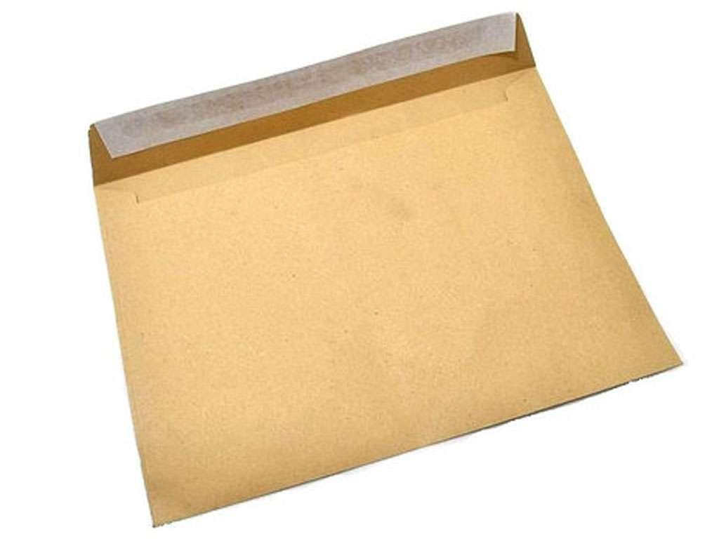 Конверт С6 (114х162 мм) коричневый, удаляемая лента, внутренняя запечатка