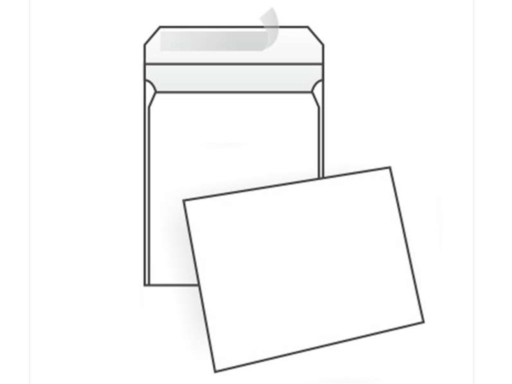Конверт С3 (324х458 мм) пакет, белый, удаляемая лента
