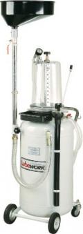 Установка для откачки масла пневматическая, ёмкость 65 . с колбой и воронкой 18л. , 8 щупов.