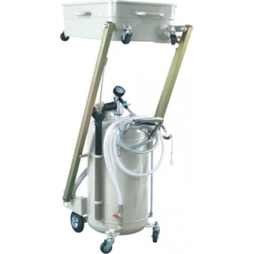 Установка для откачки масла пневматическая ёмкость 90л. 8 щупов, пантографная ванна 65л. для слива масла, 8 щупов.