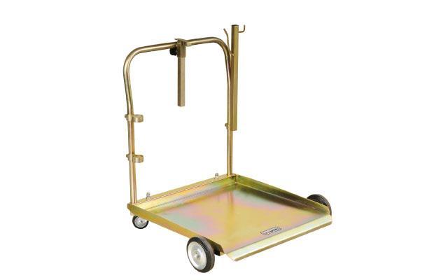 Тележка усиленная для бочек 180/220 кг с местом под катушку