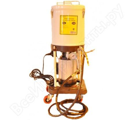 Солидолонагнетатель передвижной электрический, электродвигатель 220V/1,5кВт, производительность 0,5L/min., давление 400 бар., объём бака 20л.,