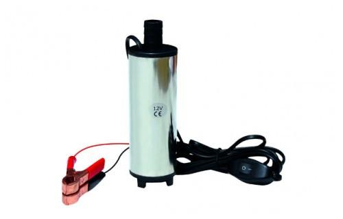 Насос для перекачки диз. топлива 12 V, погружной, лопастной, электрический. Материал корпуса сталь. Мощность:60W. Производительность:40L/m. Подъём: 2