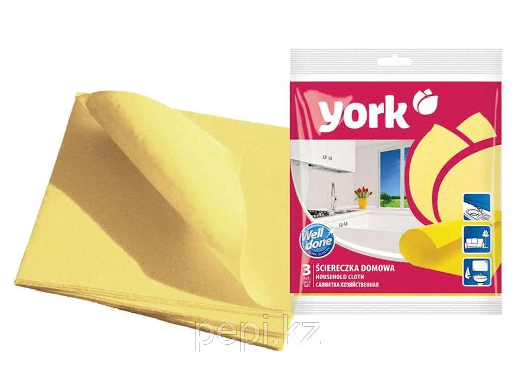 Салфетки из вискозы York, 3 штуки в упаковке
