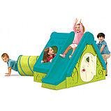 Детский игровой домик Keter FUNTIVITY Фунтик с горкой Бирюзовый/Зеленый Turquoise/Green (240x174x104, фото 2