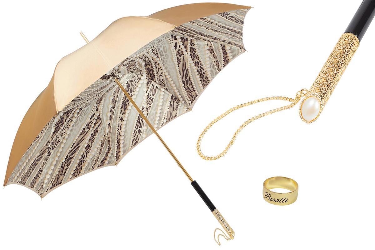 Женский зонт с двойным куполом. Производство Италия.