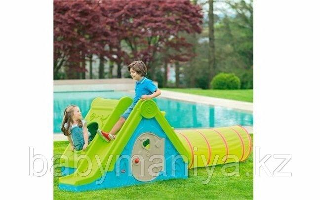 Детский игровой домик Keter FUNTIVITY Фунтик с горкой Бирюзовый/Зеленый Turquoise/Green (240x174x104