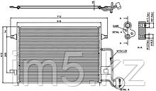 Радиатор кондиционера VW PASSAT B5 00-05