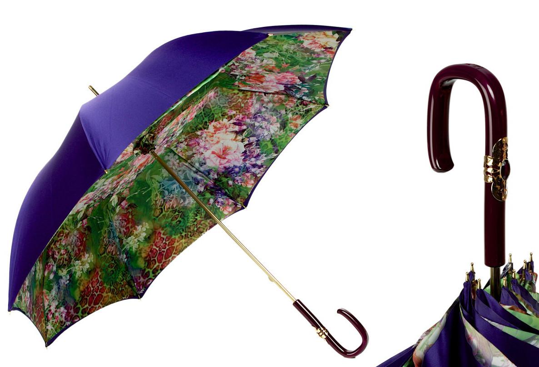 Женский зонт ручной работы. Италия. Двойной купол