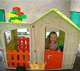 Игровой Дом Keter MAGIC VILLA Волшебная вилла Экрю/Зеленый Ecru/Green (169x110x126h), фото 2