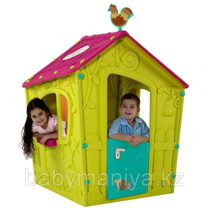Игровой дом MAGIC Волшебный с петушком KETER Салатовый/Малиновый Green/Violet(110x110x146h)