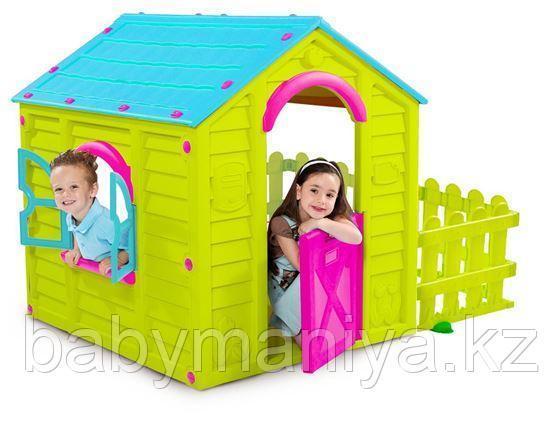 Игровой Дом Keter MY GARDEN HOUSE САДОВЫЙ Зелёный/Голубой Green/Blu (156x118x117h) (пластик двойной)