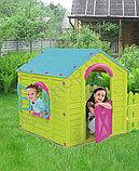 Игровой Дом Keter MY GARDEN HOUSE САДОВЫЙ Зелёный/Голубой Green/Blu (156x118x117h) (пластик двойной), фото 2