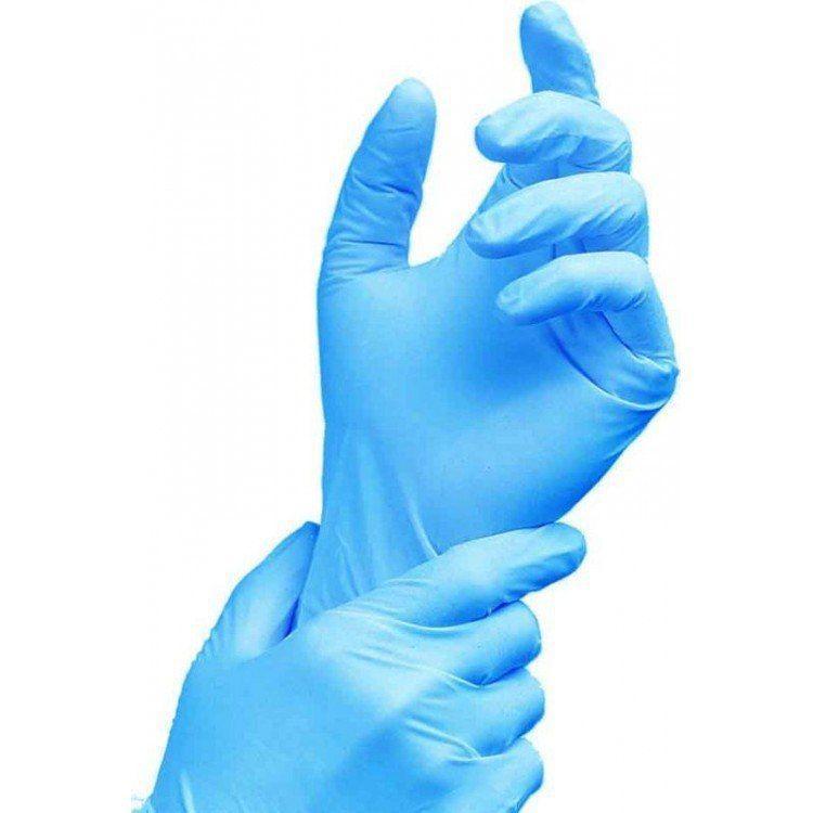 Перчатки нитриловые неопудренные голубые S (100/1000) (1 упаковка - 100шт/50пар)