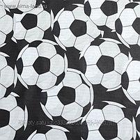 """Постельное бельё """"Этель"""" 1,5 сп Футбольный мяч 143*215 см, 150*214 см, 50*70 см - 1 шт, 100% хл, бязь 125 г/м2, фото 3"""