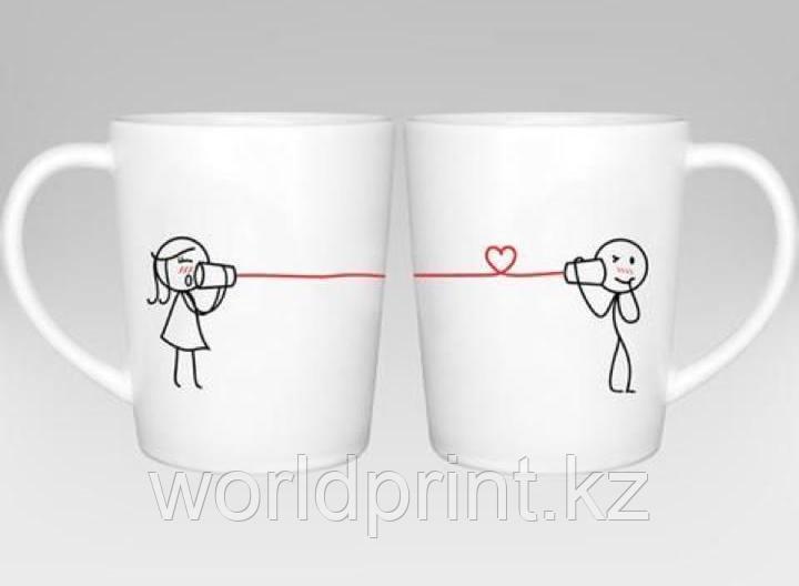 Печать на кружках ко дню влюбленных