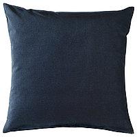 Чехол на подушку 50х50 САНЕЛА темно-синий ИКЕА, IKEA