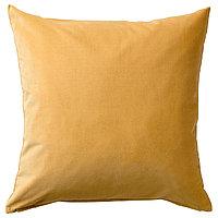 Чехол на подушку 50х50 САНЕЛА золотисто-коричневый ИКЕА, IKEA